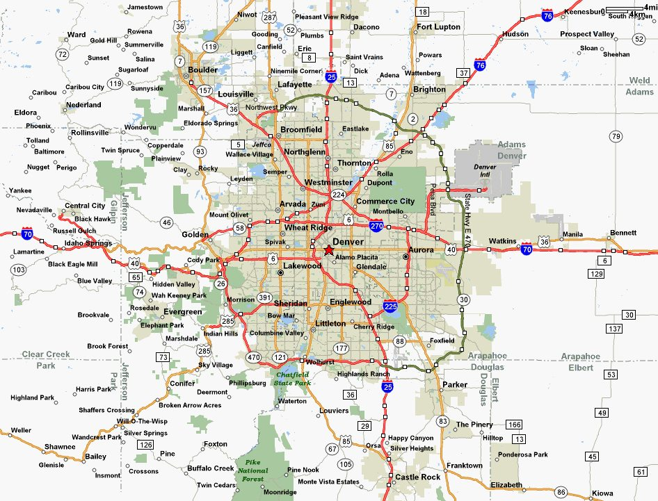 Denver Area Map Amp Home Search
